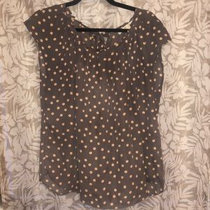 LC Lauren Conrad Print Pleated Top size X-Large